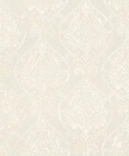 Casa Padrino Barock Wohnzimmer Tapete Weiß 10, 05 x 0, 53 m - Hochwertige Textiltapete im Barockstil