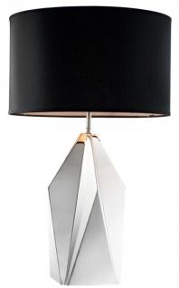 Casa Padrino Designer Tischleuchte Nickel Finish - Luxus Kollektion