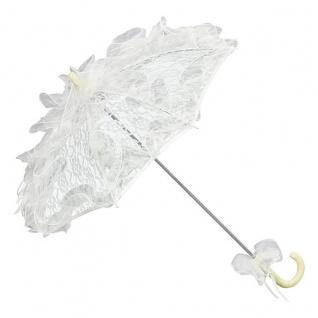 MySchirm Designer Brautschirm Hochzeitsschirm in creme mit einem sternenförmig angeordneten Muster