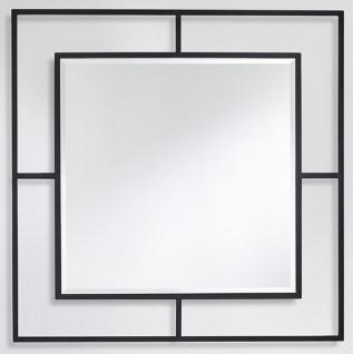 Casa Padrino Luxus Wandspiegel Schwarz 90 x 2 x H. 90 cm - Wohnzimmer Spiegel - Schlafzimmer Spiegel - Garderoben Spiegel - Luxus Möbel