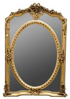 Casa Padrino Barockstil Wandspiegel Gold 85 x H. 128 cm - Edel & Prunkvoll
