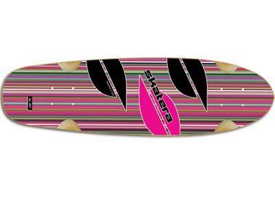 "Skatera by Jet Vixen KissMeDeadly Longboard Deck 8.0"" x 28.5"" Cruiser Deck Skateboard"