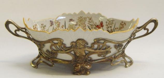 Casa Padrino Luxus Barock Porzellan Schüssel - Antik Stil Schüssel