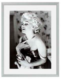 Casa Padrino Bilder 2er Set Marilyn Monroe Silber 69 x H. 89 cm - Luxus Wanddekoration - Vorschau 3