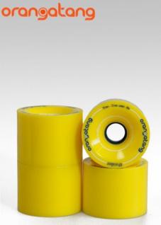 Orangetang Longboard Profi Wheels 4 President 70mm / 86a Yellow - Longboard Cruiser Wheel Set (4 Rollen)