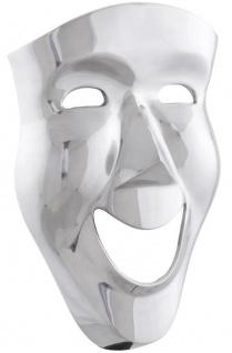 Casa Padrino Luxus Deko Aluminium Maske Silber 31 x 14 x H. 46 cm - Luxus Wanddeko - Vorschau 2