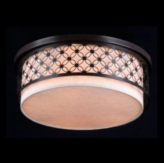 Casa Padrino Barock Decken Kronleuchter Dunkel Wenge 50 x H 24, 3 cm Antik Stil - Möbel Lüster Leuchter Deckenleuchte Deckenlampe