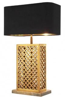 Casa Padrino Luxus Tischleuchte Vintage Messingfarben / Schwarz 46 x 22 x H. 72 cm - Luxus Qualität