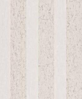 Casa Padrino Barock Vliestapete mit Streifen Beige / Creme 10, 05 x 0, 53 m - Deko Accessoires