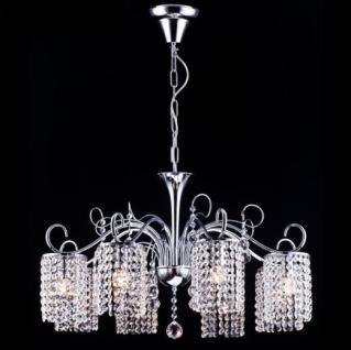 Casa Padrino Barock Decken Kristall Kronleuchter Nickel 73, 5 x H 86 cm Antik Stil - Möbel Lüster Leuchter Hängeleuchte Hängelampe