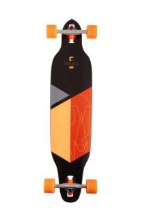 RAM Drop Through Longboard Komplettboard Solitary 2.0 Orange - Special Edition mit Koston Kugellagern