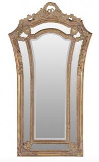 Casa Padrino Barock Wandspiegel Braun / Gold 115 x H. 207 cm - Barockstil Spiegel Antik Stil Möbel