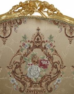 Casa Padrino Barock Sofa Creme Muster / Gold - italienischer Stil - Barock Möbel - prunkvoll und ausgefallen! - Vorschau 3