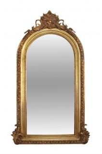Casa Padrino Luxus Wohnzimmerspiegel Gold 110 x H. 210 cm - Barock Spiegel