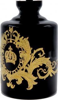 Pompöös by Casa Padrino Luxus Whisky Karaffe mit 24 Karat Vergoldung Schwarz / Gold Ø 12, 5 x H. 25 cm - Pompööse Glas Karaffe designed by Harald Glööckler - Vorschau 2