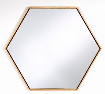 Casa Padrino Luxus Spiegel mit natufarbenem Holzrahmen 52 x H. 45 cm - Wohnzimmer Wandspiegel