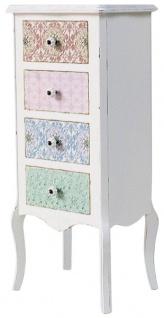Casa Padrino Landhausstil Shabby Chic Kommode Antik Weiß / Mehrfarbig 43 x  32 x H. 98 cm - Landhausstil Kollektion