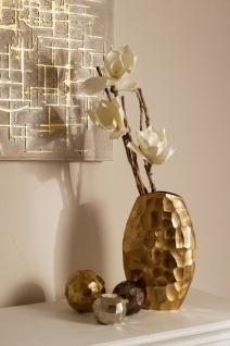 Casa Padrino Luxus Metall Vase Gold 19 x 9 x H. 30 cm - Luxus Deko Blumenvase - Vorschau 4