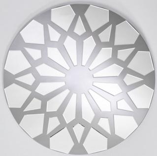 Casa Padrino Designer Wandspiegel Grau Ø 100 cm - Moderner Design Spiegel - Garderoben Spiegel - Wohnzimmer Spiegel - Luxus Kollektion