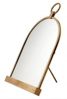 Casa Padrino Luxus Tisch Spiegel Schminkspiegel - Schminktisch Spiegel Antik Messing Farben 57 x 36 cm - Vorschau 2