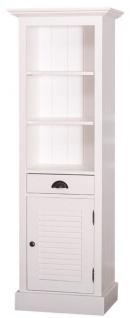 Casa Padrino Landhausstil Badezimmerschrank mit Tür und Schublade Weiß 54 x 41 x H. 160 cm - Badezimmermöbel im Landhausstil - Vorschau 2
