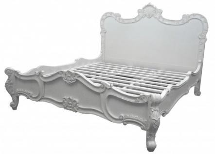 Barock Bett Florenz Weiß 180 x 200 cm aus der Luxus Kollektion von Casa Padrino