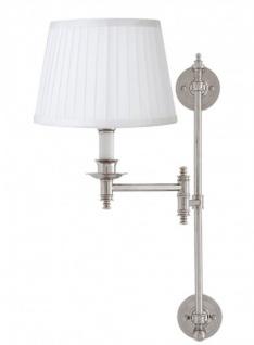 Casa Padrino Luxus Wandleuchte Nickel 17 x 15 x H 55 cm - Luxus Qualität