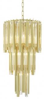 Casa Padrino Luxus Kronleuchter Gold Durchmesser 35 x H. 68 cm - Hotel Möbel