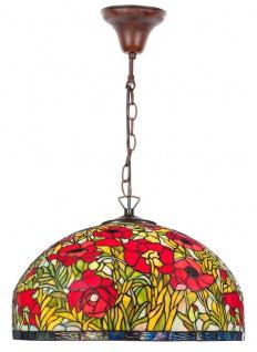 Casa Padrino Tiffany Hängeleuchte Mehrfarbig Ø 50 x H. 85 cm - Handgefertigte Tiffany Hängelampe aus 1221 Teilen