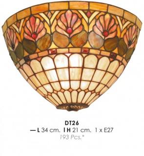 Handgefertigte Tiffany Wandleuchte von Casa Padrino Durchmesser 34 cm, Höhe 21 cm - Leuchte Lampe