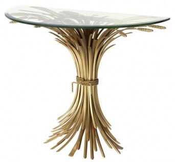 Casa Padrino Luxus Konsole Antik Gold 90 x 45 x H. 76 cm - Designer Konsolentisch - Vorschau 1