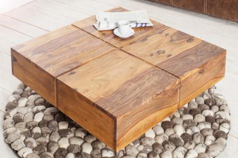 Casa Padrino Designer Massivholz Couchtisch Natur 80 x 30 cm - Salon Wohnzimmer Tisch - Vorschau 4