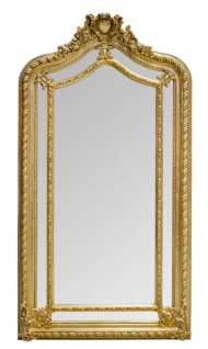Casa Padrino Barockstil Wandspiegel Gold 108 x H. 200 cm - Edel & Prunkvoll