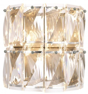 Casa Padrino Luxus Kristallglas Wandleuchte Silber 31 x 18 x H. 31 cm - Hotel & Restaurant Wandlampe