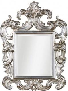 Casa Padrino Luxus Barock Wandspiegel Silber 86 x 8 x H. 114 cm - Prunkvoller Antik Stil Spiegel mit wunderschönen Verzierungen - Luxus Qualität - Made in Italy