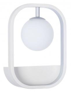 Casa Padrino Luxus Wandleuchte Weiß / Silber 17, 8 x 11 x H. 25 cm - Wohnzimmer Wandlampe