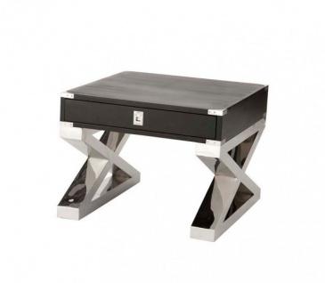 Casa Padrino Luxus Art Deco Designer Beistelltisch 65 x 65 x H. 52 cm - Luxus Tisch