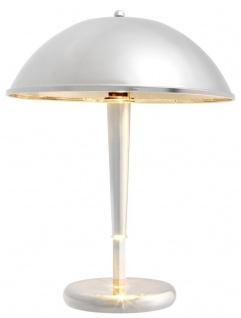 Casa Padrino Luxus Tischleuchte Silber Ø 34 x H. 44 cm - Hotel & Restaurant Tischlampe