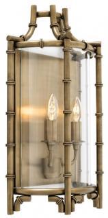 Casa Padrino Luxus Wandleuchte Antik Messing 30, 5 x 15 x H. 52, 5 cm - Limited Edition