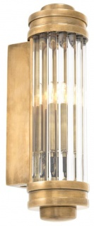 Casa Padrino Wandleuchte / Wandlampe Vintage Messing 7 x 10 x H. 26 cm - Hotel & Restaurant Leuchte