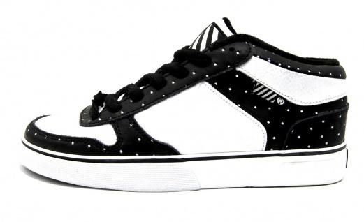 C1rca Skateboard Schuhe 8WTK Black / White - Sneakers Turnschuhe Sneaker