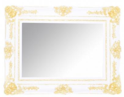 Casa Padrino Barock Wandspiegel Weiß / Gold Höhe 130 cm, Breite 96 cm - Edel & Prunkvoll