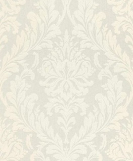 Casa Padrino Barock Textiltapete Weiß 10, 05 x 0, 53 m - Wohnzimmer Tapete - Deko Accessoires im Barockstil