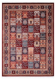 Casa Padrino Teppich Rot / Mehrfarbig - Verschiedene Größen - Wohnzimmer Teppich mit orientalischen Ornamenten