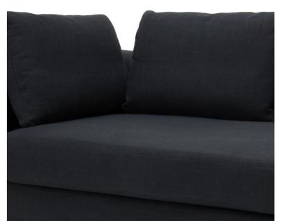 Casa Padrino Designer Sofa Schwarz Linksseitig 231 x 101 x H. 85 cm - Luxus Wohnzimmer Möbel - Vorschau 3