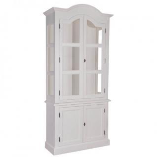 Casa Padrino Jugendstil Wohnzimmer Schrank Küchenschrank Weiß 104 x H 220 cm- Esszimmer Schrank Barock Antik Landhaus Stil