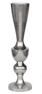 Casa Padrino Antik Stil Vase Aluminium Silber - Hotel Dekoration - Barock Blumengefäss Pflanzentopf - Mod1 H. 107 cm