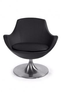 Casa Padrino Designer Sessel Schwarz - Lounge Sessel - Büro Sessel - Drehsessel - Vorschau 3