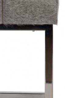Casa Padrino Luxus Kunstfell Hocker in Patchwork Optik Grau / Silber 45 x 33 x H. 40 cm - Luxus Möbel - Vorschau 5