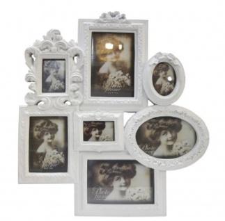 Casa Padrino Barock 7er Bilderrahmen Weiß 41 x 4 x H. 45 cm - Deko Accessoires im Barockstil